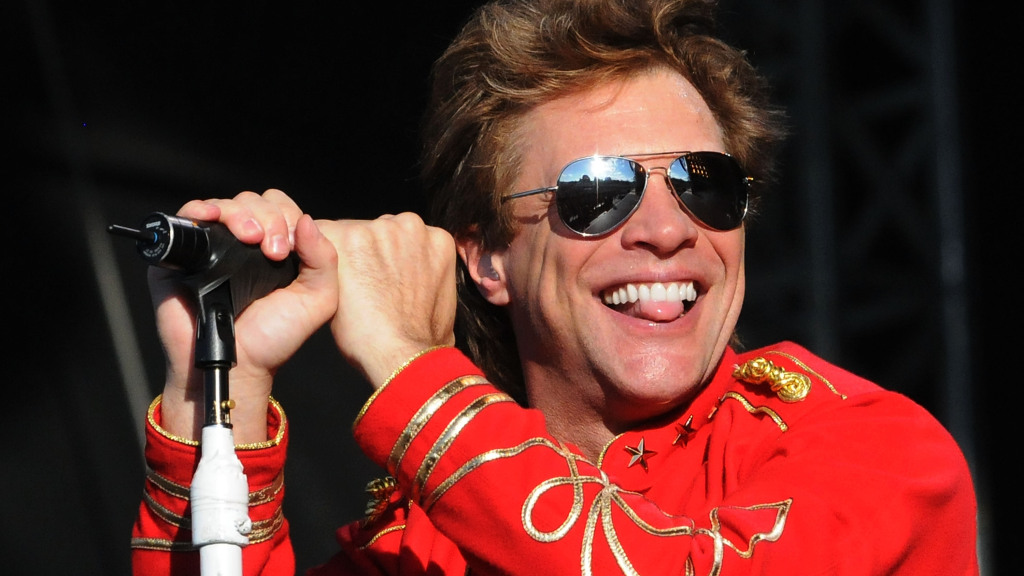 Jon Bon Jovi with False Teeth