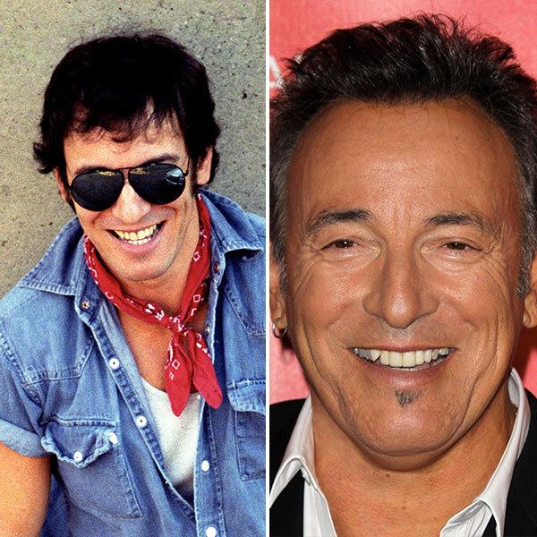 Bruce Springsteen with false teeth