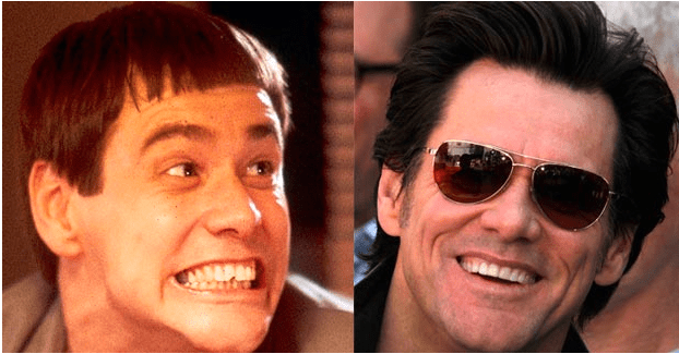Jim Carrey with False Teeth