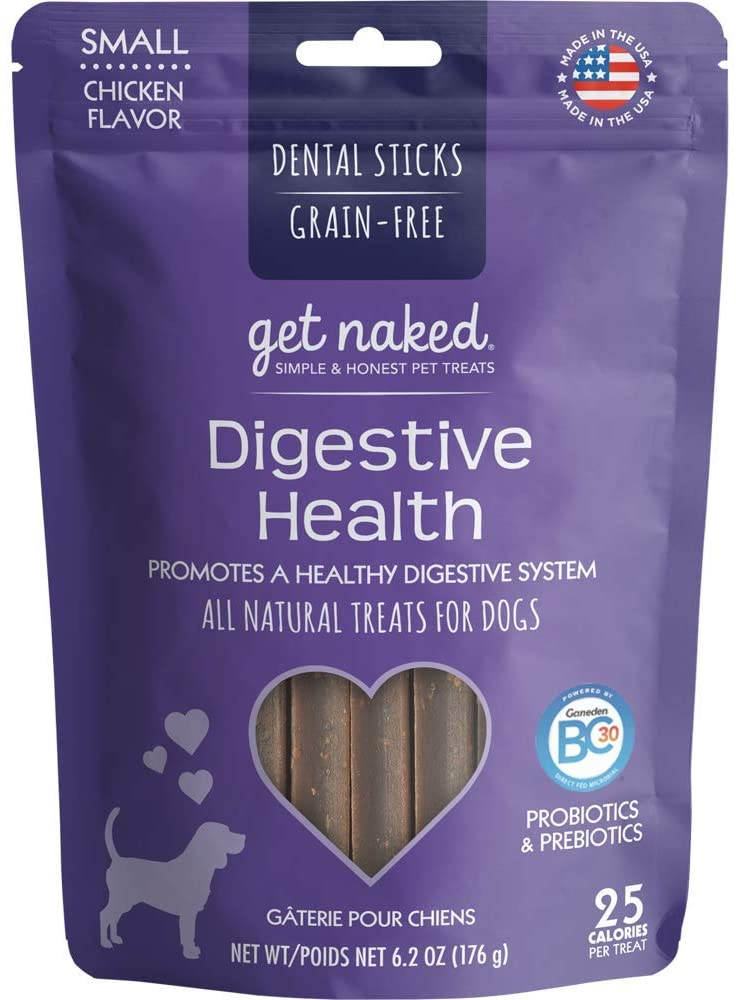 Get Naked Digestive Health Dental Chew Sticks For Dogs