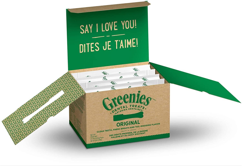 Greenies Original Regular Natural Dental Dog Treats (25-50lb. Dogs)